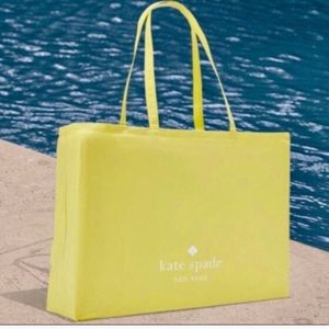 Kate Spade ♠️ Large Yellow Canvas Shopping Tote